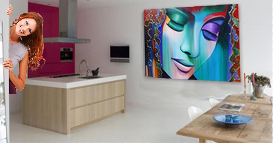 Homeage fotoprints voor interieur snel en gemakkelijk online besteld - Kleuren schilderij eetkamer ...